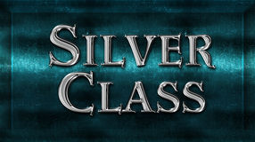 Realistic Chick Metal Silver Class Award. Sign Emblem stock photos