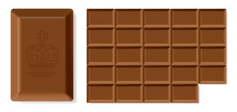 Realistic  chocolate bar Royalty Free Stock Photo