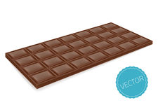 Realistic chocolate bar perspective Royalty Free Stock Photos