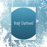 Realistic Christmas Banner with Snowflakes Royalty Free Stock Images