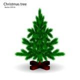 Realistic Christmas tree Stock Photography