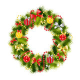 Realistic Christmas Wreath Stock Images