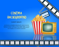 Realistic Cinema Background. Movie Premiere Poster. Royalty Free Stock Images