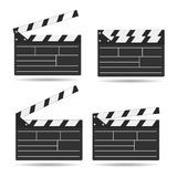 Realistic cinema clapper. Film time board. Vector.  Royalty Free Stock Photos