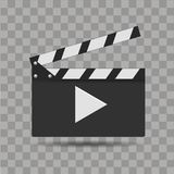 Realistic cinema clapper. Film time board. Vector.  Royalty Free Stock Image