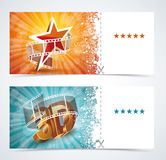 Realistic cinema movie poster, event card template. Royalty Free Stock Image