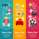 Realistic cinema movie poster template Royalty Free Stock Photo