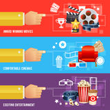 Realistic cinema movie poster template Royalty Free Stock Images