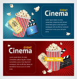 Realistic Cinema Movie Poster Template. Vector Royalty Free Stock Photography