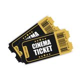 Realistic Cinema Ticket Icon In Flat Style. Admit One Coupon Entrance Vector Illustration On White Isolated Background. 3d Ticket Stock Images