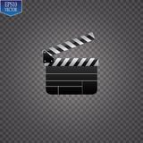 Realistic clapper.cinema.Board on a white background.film.time.vector illustration. Realistic clapper.cinema.Board on a white background.film.time.vector Royalty Free Stock Images