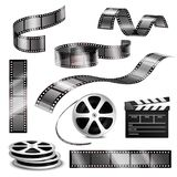 Realistic Clapper Photographic Strips And Film Royalty Free Stock Photography
