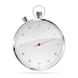 Realistic Classic Stopwatch  on White. Royalty Free Stock Photos
