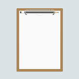 Realistic clipboard with paper and pencils. Stock Photos