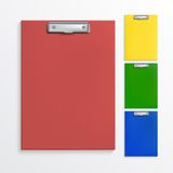 Realistic clipboards. Set of realistic clipboards isolated on white Stock Image