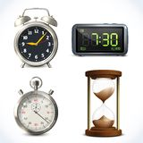 Realistic clock set Royalty Free Stock Images