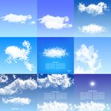Realistic clouds blue sky transparent nature weather white cloudscape air space natural environment skyline cloudy. Realistic clouds blue sky transparent Stock Photo