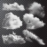 Realistic Clouds Icon Set Royalty Free Stock Images