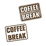Realistic Coffee Break grunge rubber stamp Stock Images