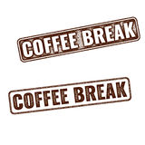 Realistic Coffee Break grunge rubber stamp Royalty Free Stock Image