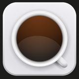 Realistic Coffee Cup Icon for Web or Application. Royalty Free Stock Photo