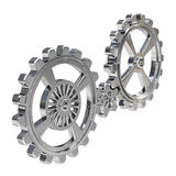 Realistic Cogwheels - Chrome Stock Photos