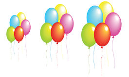 Realistic color balloons Royalty Free Stock Image