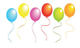 Realistic color balloons. New realistic color balloons illustration Stock Photography