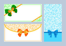 Realistic color bows collection Stock Image