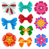 Realistic color bows collection Royalty Free Stock Image
