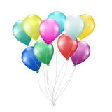 Realistic colorful balloons Stock Photos