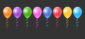 Realistic colorful balloons set. Balloon collection. Realistic colorful 3d balloons set. Balloon collection. 3d colorful balloons set Stock Image