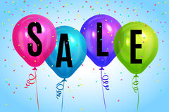 Realistic colorful balloons with text `Sale`.Background for special offer. Realistic colorful balloons with text `Sale`. Background for special offer, store Stock Images