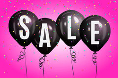 Realistic colorful balloons with text `Sale`.Background for special offer. Realistic colorful balloons with text `Sale`. Background for special offer, store Royalty Free Stock Images