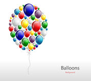 Realistic colorful Birthday background with balloon. Illustration of Realistic colorful Birthday background with balloon Royalty Free Stock Photos