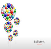 Realistic colorful Birthday background with balloon Royalty Free Stock Photos