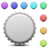 Realistic colorful bottle caps vector Stock Image