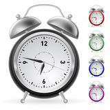 Realistic colorful clock Stock Photo