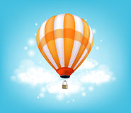 Realistic Colorful Hot Air Balloon Background Flying Stock Images