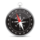 Realistic compass. Vector illustration of realistic compass Royalty Free Stock Images