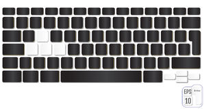 Realistic Computer keyboard. Modern design. Vector illustration Stock Image