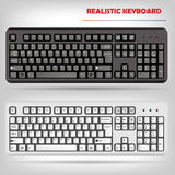 Realistic computer keyboard vector Stock Photo