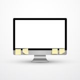 Realistic computer monitor Royalty Free Stock Photography
