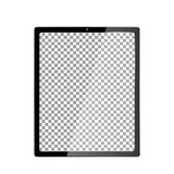 Realistic Computer with Transparent Wallpaper Screen Isolated. Set of Device Mockup Separate Groups and Layers. Easily Editable. Vector royalty free illustration