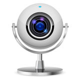 Realistic computer web cam Stock Image