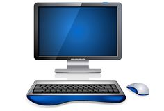 Realistic Computer Workstation Royalty Free Stock Photography