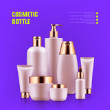 Realistic cosmetic bottle Stock Photos
