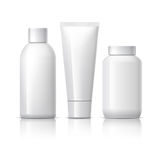 Realistic Cosmetic bottle can sprayer container. Royalty Free Stock Photos