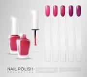 Realistic Cosmetic Nail Polish Set Stock Image