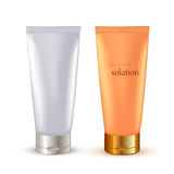Realistic Cosmetic packaging, plastic tube. Vector illustration Stock Photography